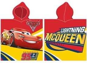 Poncho copii Cars McQueen roșu, 50 x 100 cm