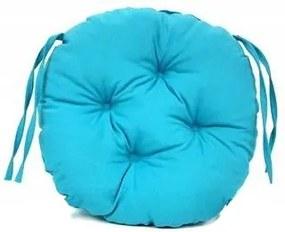 Perna decorativa rotunda, pentru scaun de bucatarie sau terasa, diametrul 35cm, culoare albastru