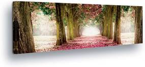 GLIX Tablou - Pink Forest 45x145 cm