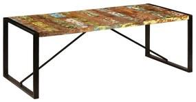 247409 vidaXL Masă de bucătărie, 220 x 100 x 75 cm, lemn masiv reciclat