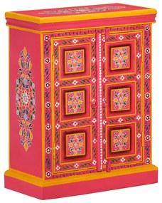 244839 vidaXL Servantă din lemn masiv de mango, roz, pictată manual