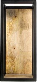 Poliță perete cu detalii din lemn de mango HSM collection Caria, 25 x 55 cm