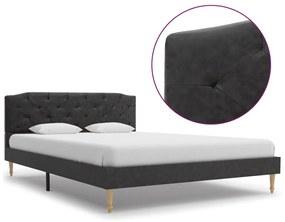 280549 vidaXL Cadru de pat, negru, 140 x 200 cm, material textil