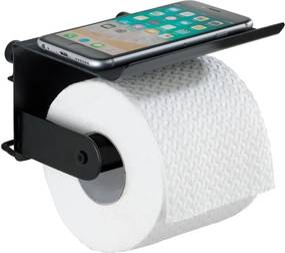 Suport de perete pentru hârtie igienică și telefon Wenko Classic Plus, negru