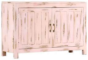 247764 vidaXL Servantă, roz deschis, 110 x 35 x 70 cm, lemn masiv de mango