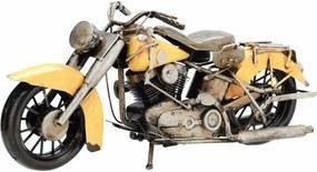 Model decorativ motocicletă Indian, galben