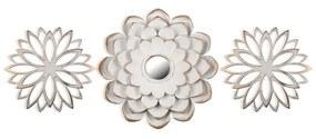 Set 3 decoratiuni cu oglinda Versa Flower M3