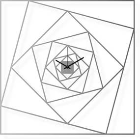 Ceas de perete mare, din oțel inoxidabil, 60x60 cm - Pătrate | DSGN