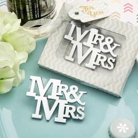 Pe un trend Mr & Mrs Silver sticle din metal deschizător