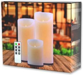 Set 3 lumânări luminoase cu telecomandă DecoKing Subtle Nova