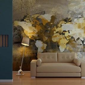 Bimago Fototapet - Artistic Map Of The World 200x154 cm