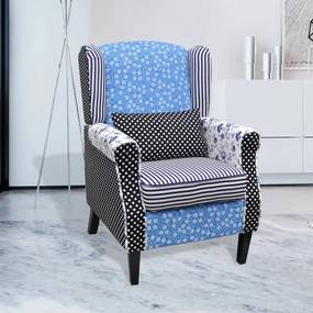 240882 vidaXL Fotoliu, model Patchwork, material textil