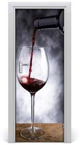 Autocolante pentru usi vin rosu