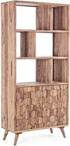 Biblioteca lemn natur Kant 89.5 cm x 40 cm x 192 h