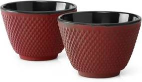 Set 2 căni fontă Bredemeijer Xilin, ⌀ 7,8 cm, roșu