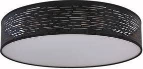 Plafoniera Ravenna, LED, neagra, 13 x 50 x 50 cm, 40w