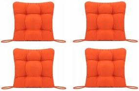Set Perne decorative pentru scaun de bucatarie sau terasa, dimensiuni 40x40cm, culoare Orange, 4 buc/set