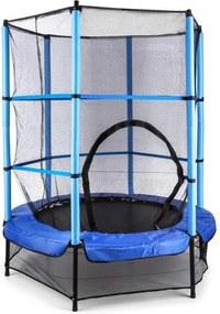 KLARFIT Rocketkid, 140 cm trambulină, plasă internă de securitate, albastră