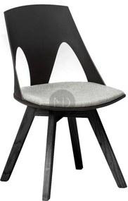 Scaun dining negru din lemn de stejar si polipropilena Cordoba All Black Malo Design