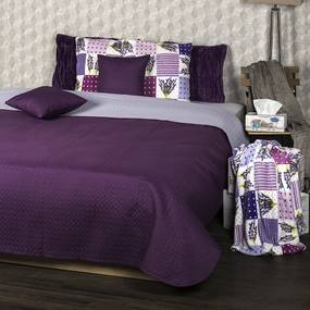 Cuvertură de pat 4Home Doubleface, violet/violetdeschis, 220 x 240 cm, 2x 40 x 40 cm