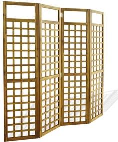 43799 vidaXL Separator cameră cu 4 panouri, nuiele lemn acacia, 160x170 cm