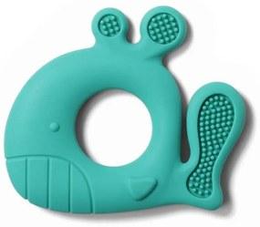 Jucarie dentitie din silicon BabyOno 935 Albastru