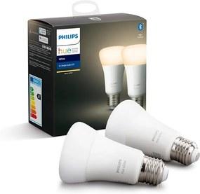 SET 2x LED Bec dimmabil Philips HUE WHITE E27/9W/230V 2700K