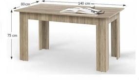 Masa de bucătărie, stejar sonoma, 140x80 cm, GENERAL