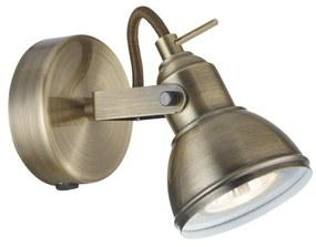 Searchlight - Aplică perete spot FOCUS 1xGU10/50W/230V alamă