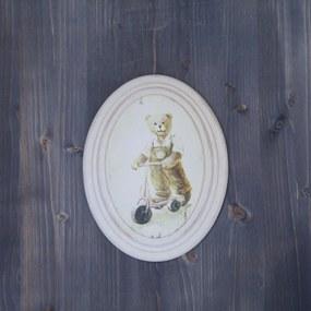 Tablou Bear Boy din lemn 17x22x4 cm