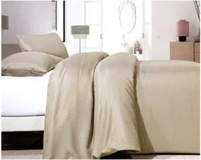 Lenjerie de pat din micropercal Zensation Satin Point One, 140 x 200 cm, bej