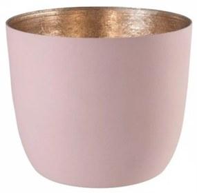 Suport pentru lumanare roz pal M