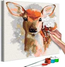 Bimago Pictura pe numere - Charming Fawn