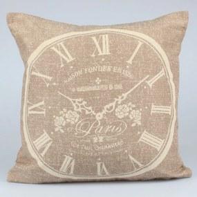 Față de pernă Dakls Clock, 40 x 40 cm, maro închis