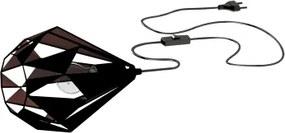 Veioză/Lampă de masă Eglo CARLTON 1, 60W, negru-cupru