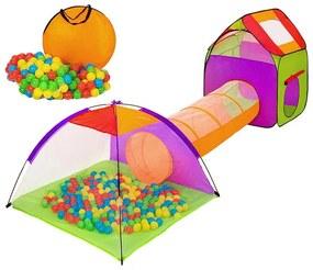 Cort si spatiu de joaca pentru copii cu 200 buc bile cadou