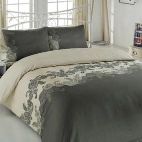 Lenjerie de pat cu cearșaf pentru pat dublu Mixscarlet, 200 x 220 cm