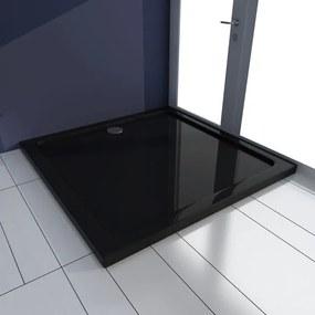 Cădiță pentru duș pătrată din ABS 90 x 90 cm, negru