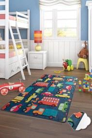 Covor pentru copii Cars Albastru - 100 x 160 cm