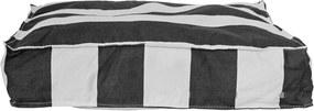 Perna de sezut Box, Negru, Cotton 50x10x50 cm