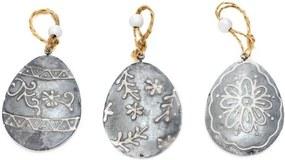 Set 3 decoraţiuni în formă de ou Ego Dekor