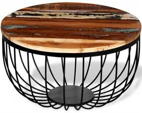 244230 vidaXL Masă de cafea din lemn reciclat de esență tare