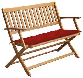 3064260 vidaXL Bancă de grădină cu pernă, 120 cm, lemn masiv de acacia