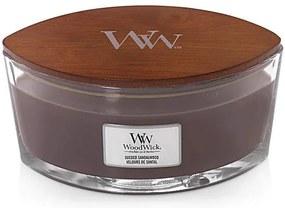 WoodWick lumanare parfumata maro Suede Sandalwood barca