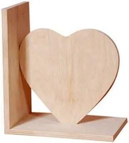 Suport din lemn pentru carti - model inima