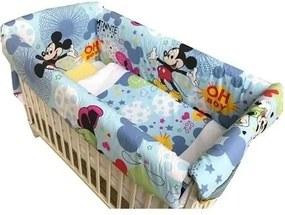 Deseda - Lenjerie de patut bebelusi 140x70 cm cu aparatori Maxi Mickey Mouse