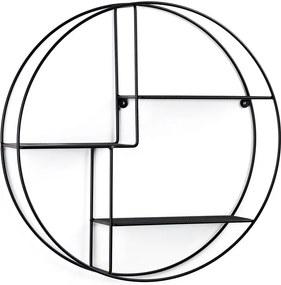 Raft de perete rotund La Forma, ø 55 cm, negru