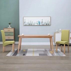 249029 vidaXL Scaune de sufragerie, 2 buc., verde, material textil