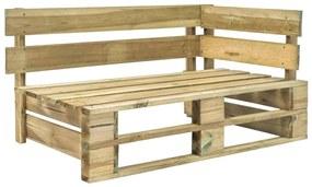 44695 vidaXL Bancă de colț pentru grădină din paleți, lemn