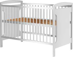 Patut copii din lemn Karly 120x60 cm alb
